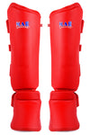 MAR-193A | Foam Padded Red Shin & Instep Guards