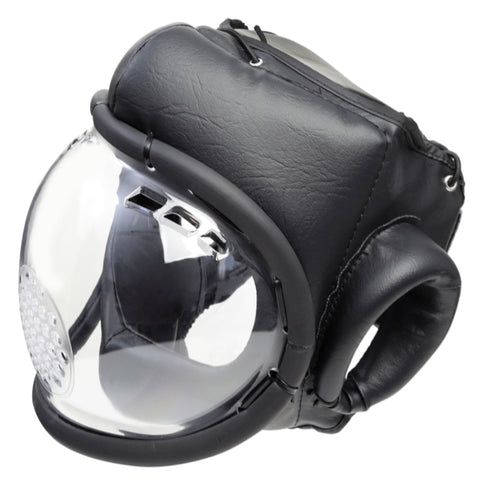 MAR-133C | Black Transparent Head Guard w/ Protection Mask
