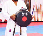 MAR-208G | Black+Red Heavy Duty Circle Round Striking Shield - quality-martial-arts
