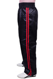 MAR-089E | Full Contact Black+Red Kickboxing & Freestyle Trousers