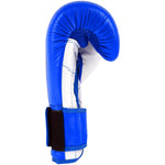 MAR-109 | Blue Genuine Cowhide Leather Boxing Gloves/Kickboxing