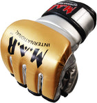 MAR-234D- Gold/Silver Synthetic Leather MMA Gloves - Quality Martial Arts