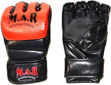 MAR-234B Black/Red Synthetic Leather MMA Gloves - Quality Martial Arts