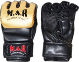 MAR-234C- Gold/Black Synthetic Leather MMA Gloves