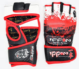 MAR-418 | IPPON Genuine Leather Blood Splatter Strike Gloves - quality-martial-arts