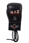 MAR-108B | Black Genuine Cowhide Leather Boxing Gloves/Kickboxing