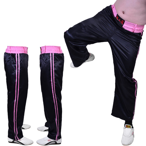 MAR-089F | Full Contact Black+Pink Kickboxing & Freestyle Trousers
