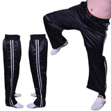 MAR-089A | Full Contact Black+White Kickboxing & Freestyle Trousers