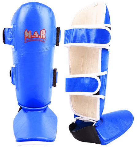 MAR-149C | Kickboxing & Thai-boxing Genuine Leather Shin & Instep Guards