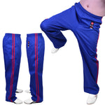 MAR-088B | Blue & Red Kickboxing & Freestyle Two-Striped Trousers