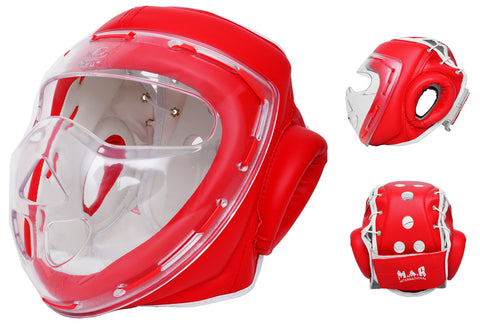 MAR-133A | Red Transparent Mask Head Guard