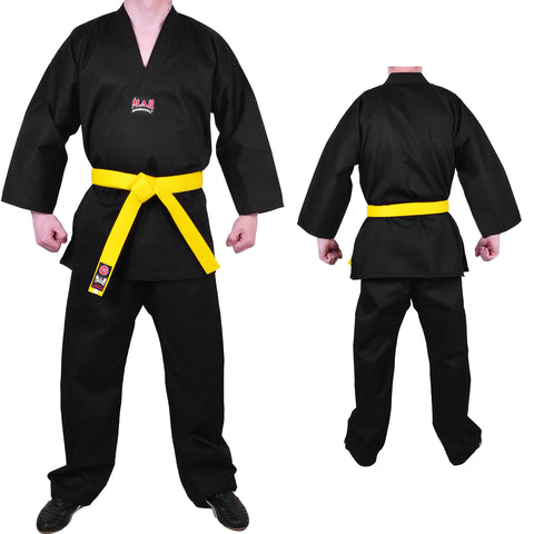 MAR-002 |  Black V-Neck Karate Uniform Gi