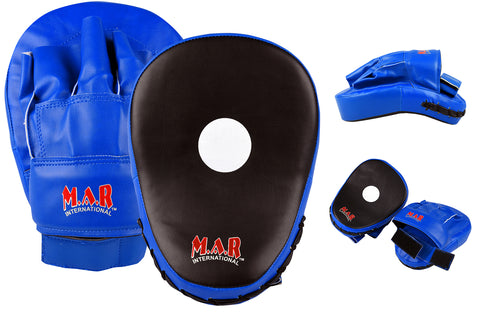MAR-194 | Blue & Black Curved Focus Mitts
