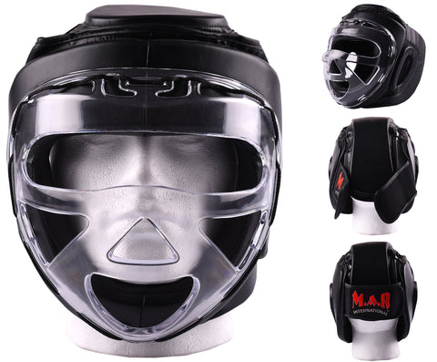 MAR-133B | Black Transparent Mask Head Guard