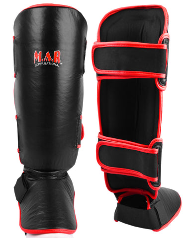 MAR-149B | Kickboxing & Thai boxing Genuine Leather Shin & Instep Guards