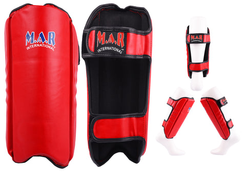 MAR-153A | Multilayered Red Shin Guards