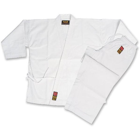 MAR-010B | White Embroidered Karate Competition Uniform - quality-martial-arts