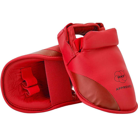 MAR-152E | WKF Approved Red Instep Guard - quality-martial-arts