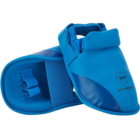 MAR-152F WKF Approved Red Instep Guard (BLUE) - M.A.R. International