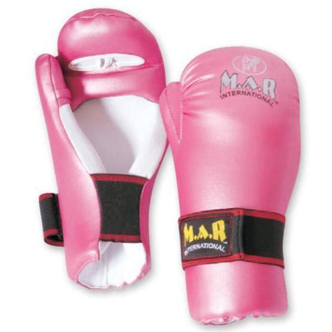 MAR-155 | Pink Semi Contact Karate Gloves for Women - quality-martial-arts