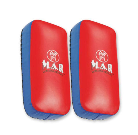 MAR-202B | Red+Black Synthetic Leather Striking Pad - Quality Martial Arts