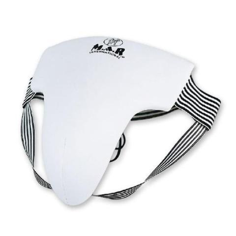 MAR-211 | Black+White Male Elasticated Groin Guard - quality-martial-arts