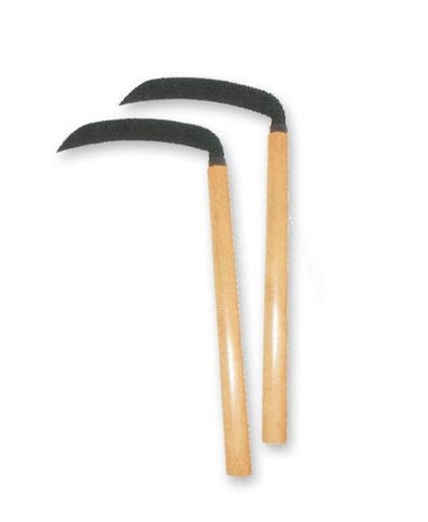 MAR-269Z | Metal Kama With Wood Handle (Pairs) - quality-martial-arts