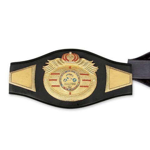 MAR-324 | Top Range Black Championship Boxing Belt - quality-martial-arts