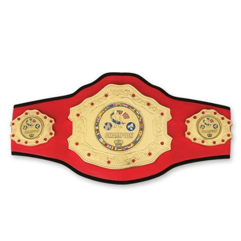 MAR-325 | Top Range Red Championship Boxing Belt - quality-martial-arts