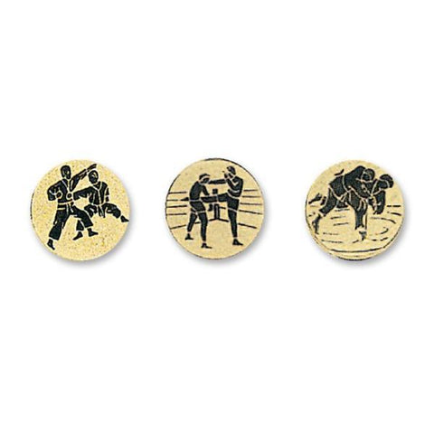 MAR-340 | Gold Plated Metal Medal - quality-martial-arts