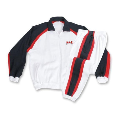 MAR-367 | White+Black+Red Tracksuit Sports Uniform - quality-martial-arts