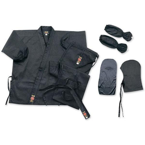 MAR-068 | Ninja Uniform & Kit (Featuring Hood, Face Mask, & Hidden Pockets) - quality-martial-arts