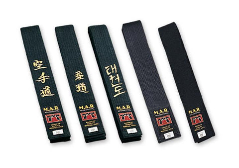 MAR-081 | Black Embroidered Belt - quality-martial-arts