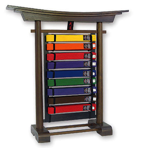 MAR-083A | Ten Level Freestanding Belt Rack