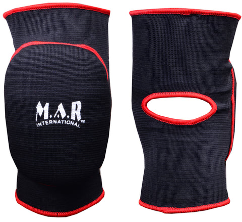 MAR-174B | Black Elasticated Fabric Knee Pads