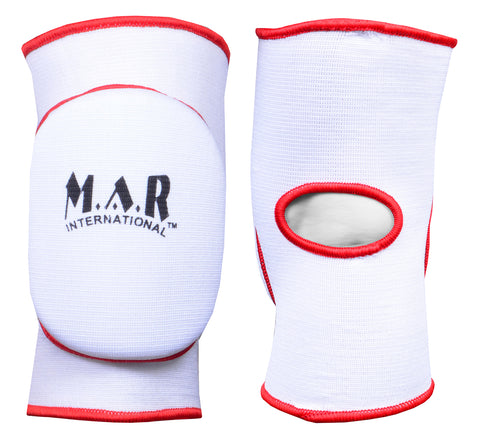 MAR-174A | White Elasticated Fabric Knee Pads