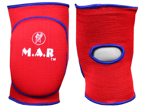 MAR-174C | Red Elasticated Fabric Knee Pads