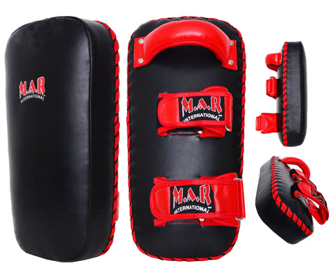 MAR-202A | Black+Red Genuine Leather Striking Pad