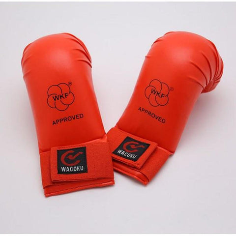 MAR-143D | WKF Approved Red Karate Mitts