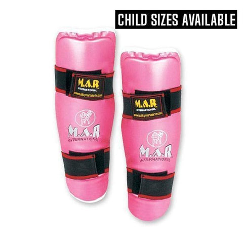MAR-158 | Pink Multilayered Shin Guards for Women - quality-martial-arts