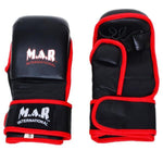 MAR-238 | Genuine Leather 4-Layer Open Palm MMA Gloves - quality-martial-arts