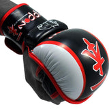 MAR-407 | Red+Black IPPON Open Finger Striking Gloves - quality-martial-arts
