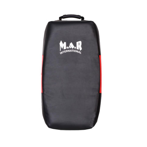 MAR-208F | Black+Red Jumbo Curved Strike Shield - quality-martial-arts