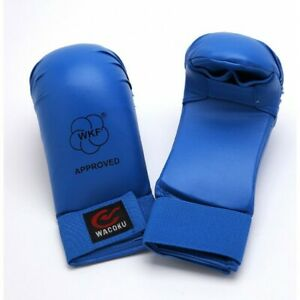 MAR-143E | WKF Approved Blue Karate Mitts