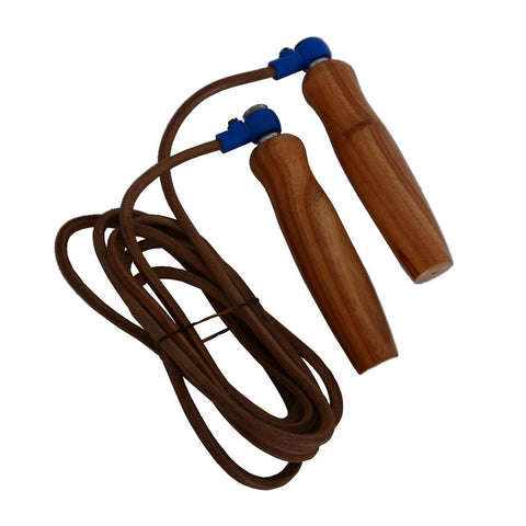 MAR-126E | Adjustsable Leather Jump Rope - quality-martial-arts
