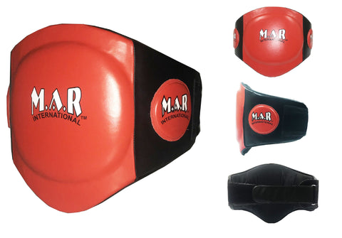 MAR-212A |  Genuine Leather Belly Guard w/ Multi Layer Foam - Quality Martial Arts