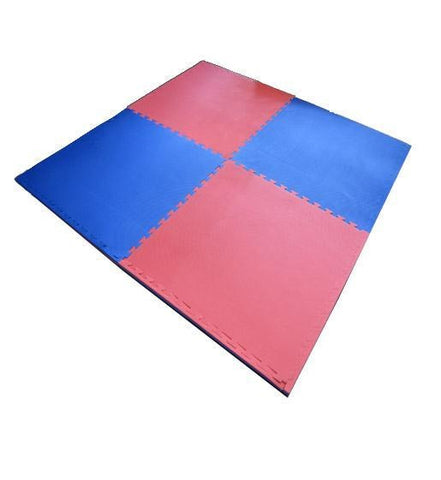 MAR-296 | Blue/Red Jigsaw Floor Mats (20mm [1m x 1m] Square) - quality-martial-arts