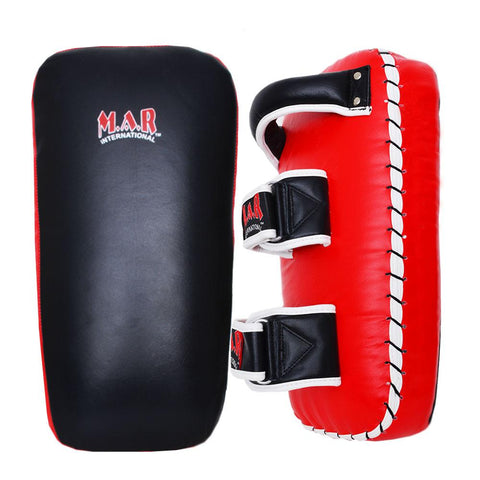 MAR-203 | Red+Black IPPON Heavy Genuine Leather Thai Pad - quality-martial-arts