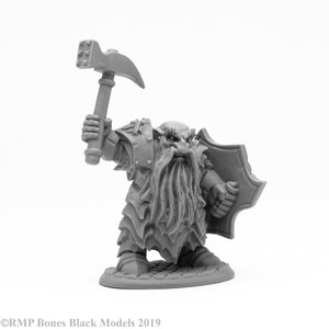 Reaper Bones Black: Enlarged Dark Dwarf Smiter (44109)