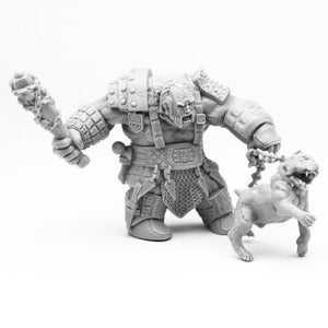 Reaper Bones: Fire Giant Huntsman w/ Hell Hound (Huge) (77457)